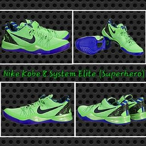 low priced 1de29 7b5a1 Nike Shoes - Nike Kobe 8 System Elite (Superhero) 586156-300