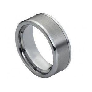 Other - Ring Brushed with Polished Shiny Raised Edge 8mm