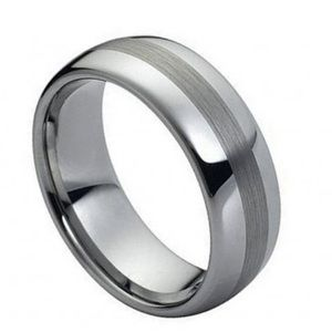 Other - Polished Shiny with Brushed Center 8mm ring