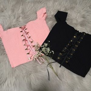 Tops - ✨lace up top✨