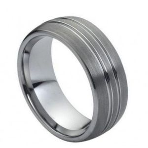 Other - High Polish Double Groove tungsten ring