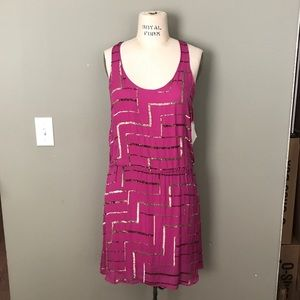 Parker Tank Magenta and Sequined Dress
