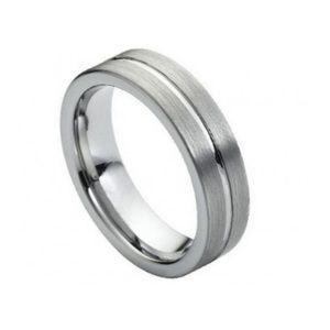 6mm shiny tungsten ring