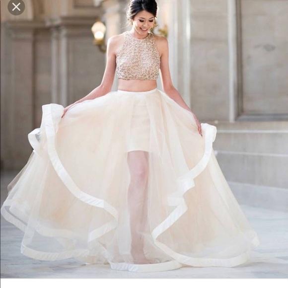 Terani Couture Dresses | 2piece Glamour Ball Gown Dress | Poshmark