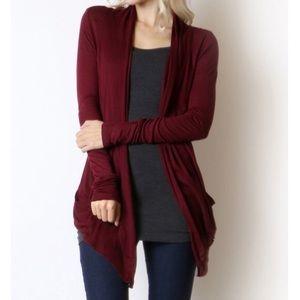 NEW🍁 burgundy cardigan soft fall basic
