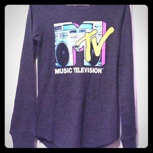 ✂️$20 FINAL PRICE MTV Classic Gray Long Sleeves