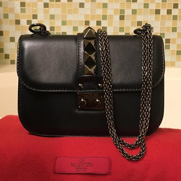 b83ea6f6719 Valentino Glam Lock Small Bag in Black. M_599142faf09282a99814d19c