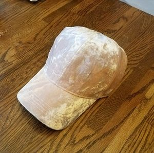 Accessories - Light Pink Velvet Cap