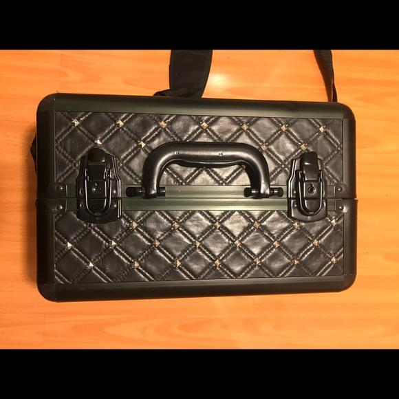 Sephora Makeup - Sephora Black Leather / Stud Traincase