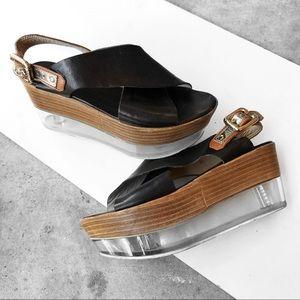 AGL flat form sandals