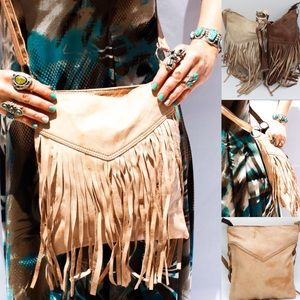 Handbags - Fringe Leather Boho Festival Bag HM0030