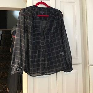 Gap sheer blouse.