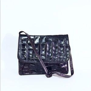 Authentic genuine crocodile Carlos falchi handbag