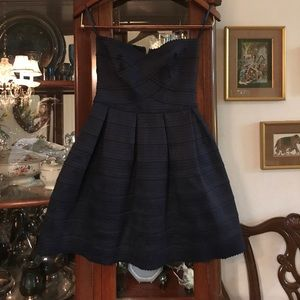 BNWT navy strapless dress