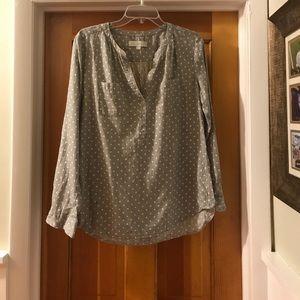 Loft polka dot blouse.