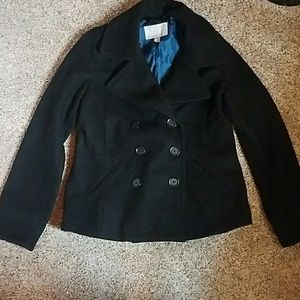 Old Navy black pea coat