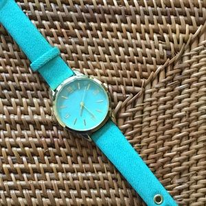 Accessories - Turquoise & Gold Watch