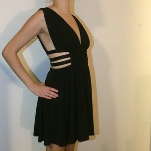 Express Dresses - EXPRESS SZ S BLACK STRAPPY GRECIAN DRESS CUT OUTS