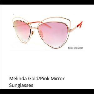 Accessories - Melinda Pink Mirror Sunglasses!