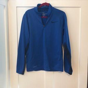 Men's Nike thermafit quarter zip.