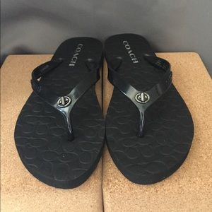 Black Coach Abbigail sandals