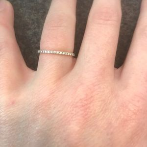91356b037 Tiffany & Co. Jewelry | Tiffany Metro Ring Rose Gold Diamond Size 5 ...