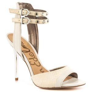 Sam Edelman Leather Sandals (white)