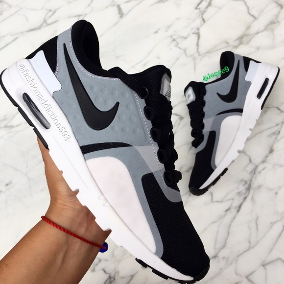 big sale 88d4c efc6a Nike air max zero women's black white gray sneaker NWT
