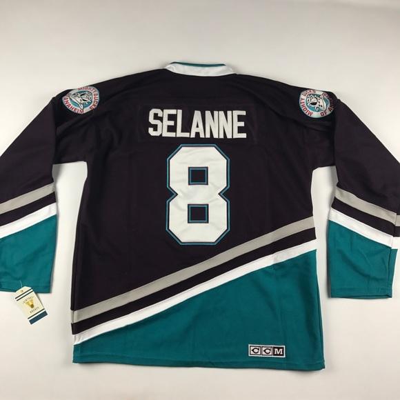 New Vintage Selannne Anaheim Ducks Hockey Jersey 55519cac6