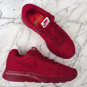Nike Shoes - Nike tanjun premium women's Burgundy sneakers