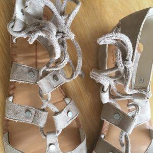 61c1e4d5091 Dolce Vita Shoes - DV Jasmyn Lace Up Gladiator Sandal - Almond - 8.5