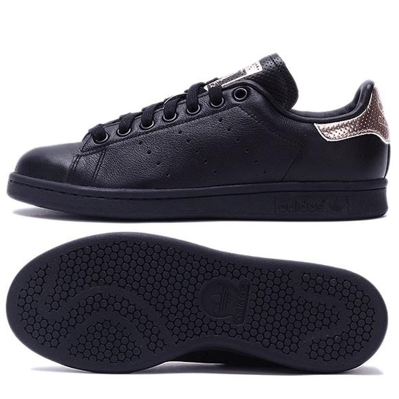 Adidas Stan Smith Black Rose Gold Sneaker fa4c71cf1