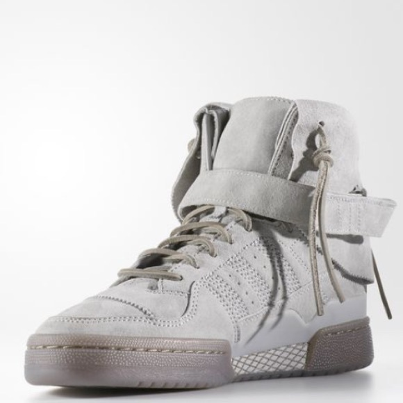 best website 36ff7 f897c Adidas Forum Hi Moc Shoes Suede Sneakers