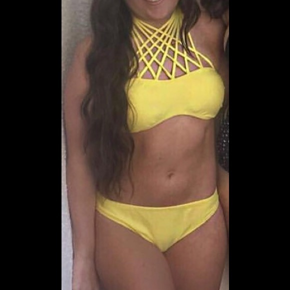 Love Culture Other - Cross cross high neck bathing suit