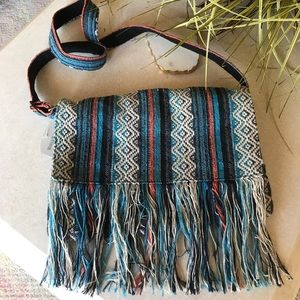 Handbags - New🌈 Vintage Woven Indian Cross-body Bag