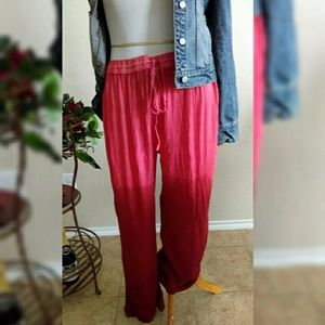 Burrale Pants - Salmon Ombre Burnt Orange Palazzo Pants