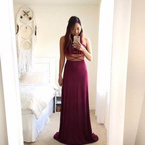 Dresses & Skirts - NEW mauve/purple maxi dress -S