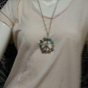 Peace Sign boho hippie Necklace