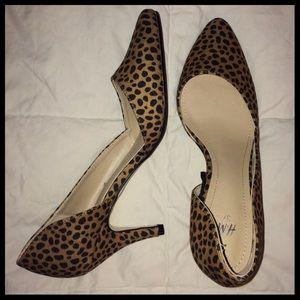 Leopard Cheetah Kitten Heels