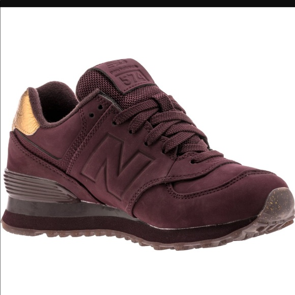 Women s New Balance burgundy   Gold 574 size 6.5. M 5991e710a88e7dc286165d4a bb76486861