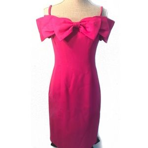 Vintage 80's off the shoulder mini dress w/ bow