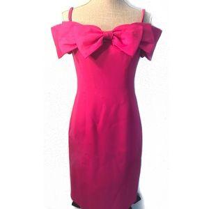 Vintage 80's off the shoulder mini dress w/ bow