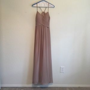 "Dresses & Skirts - Azazie Taupe ""Haleigh"" Bridesmaid Dress Size 0."