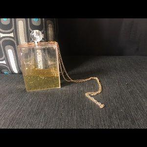Handbags - Perfume Bottle Shape Gold Glitter Bag