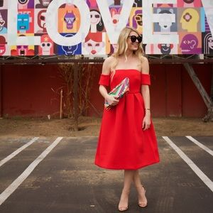 Dresses & Skirts - Red off the shoulder dress