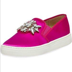 NEW Badgley Mischka Slip On Jewel Sneaker