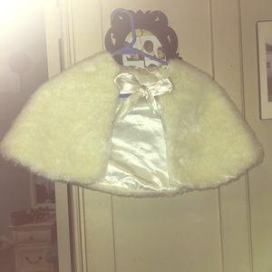 Jackets & Blazers - Young Ladies Adorable Cream Soft Fur Cape