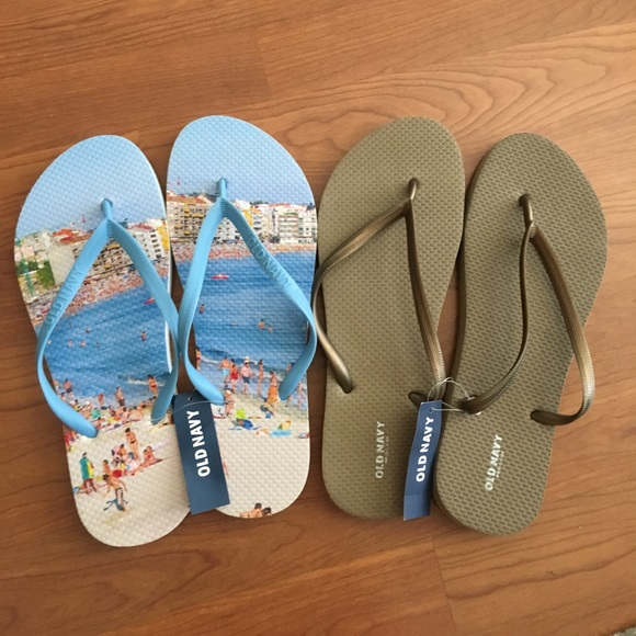 7b08810c01f4 2pairs Old Navy Flip Flops Old Navy Slippers Sz 10