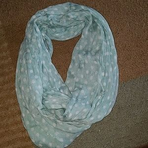 Accessories - Blue and white polka dot scarf