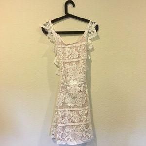 Chicwish Dresses - NWT Chicwish 'Endearing' lace cross back dress